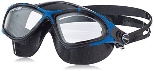 Cressi Swim Planet Clear, Helles Glas Schwimmbrillen, Schwarz/Blau Schwarz, Uni