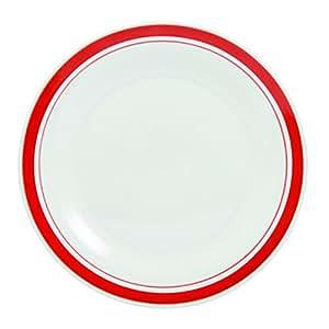 Novastyl 7154045 Service 12 Pièces Resto Porcelaine Rouge/Blanc 28 x 30 x 28 cm