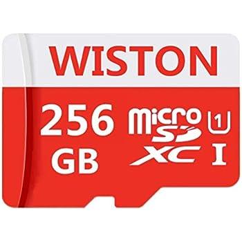 WISTON Micro SD Tarjeta 256 GB de Alta Velocidad Clase 10 Micro SD Tarjeta de Memoria SDXC con Adaptador