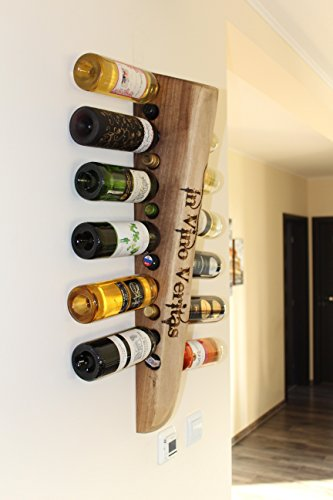 Botellero de diseño en nogal. 12 botellas