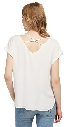 Tom Tailor Denim für Frauen Shirt / Blouse schlichte Kurzarm-Bluse Off White  ...