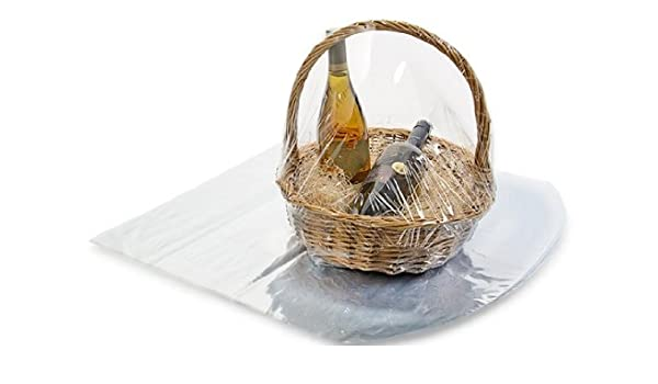 Clear Basket Wrap Bag 24 x 30 2 Pack Clear