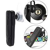 Big-Mountain  Kabellos Bluetooth Kopfhörer | BT 4,1 Sport Ohrhörer | In Ohr Silikon | mit Mikrofon | Steuerung Portable Headset für Samsung (Schwarz)