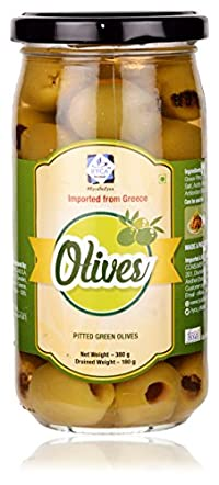 Ryca Pitted Green Olives, 380 Grams, Imported from Greece