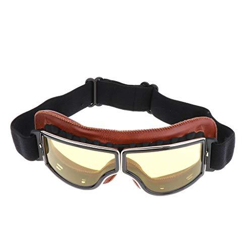 Shiwaki Motorradbrillen Skibrille Gletscherbrille Schutzbrille Fliegerbrille Schneebrille Radsportbrille für Motorrad Helm