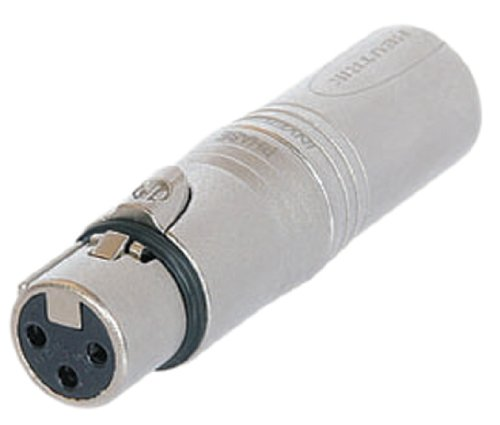 Neutrik Silber NA3 F5 M 3 pol Female XLR auf 5 Pole Male XLR DMX Adapter. Polybag -