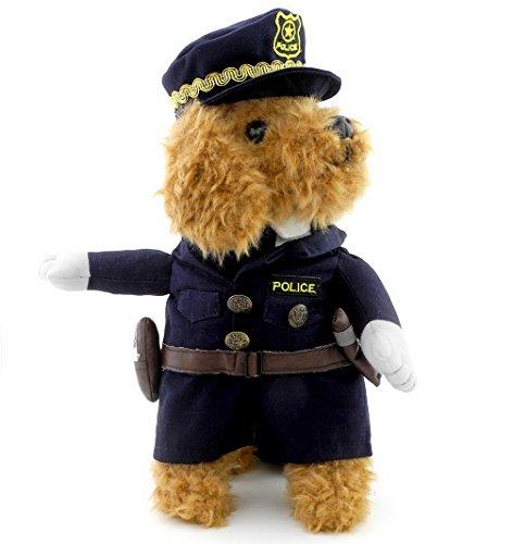 ranphy Kleiner Hund Welpen Jumpsuit Katze unter 20Pfund Polizei Kostüm Polizist Uniform mit Mütze