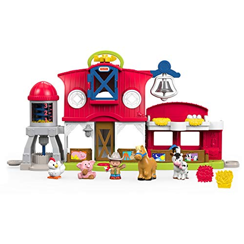 Fisher-Price Little People les Animaux de la Ferme Jouet Enfant, 5 Figurines, Éveil et Développement de l'Imagination, 12 Mois et Plus, FKD13
