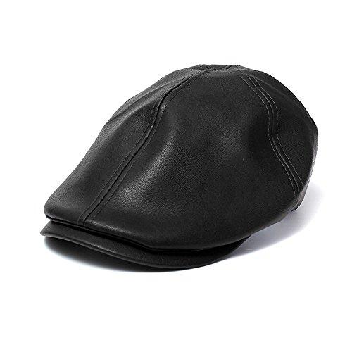 Squarex Sombrero Cuadrado de Boina de Piel