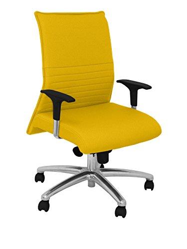 Silla amarilla de oficina estilo español, modelo Albacete