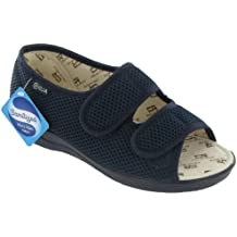Mirak Textile Lined Womens Sandals - Navy - Size 3 4 5 6 7 8 9