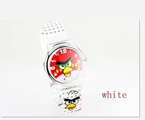 Angry Birds Style Montre Enfants Quartz Analogique Bracelet - BLANC