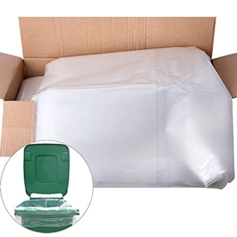The Chemical Hut Lot de 10 sacs de protection robustes pour poubelles à roulettes Transparent