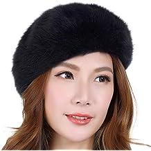 LIUXINDA-ZZM Autunno e Inverno Cappello di Pelliccia di Coniglio Selvatico  Femminile Versione Coreana del 74bf90abb5b6