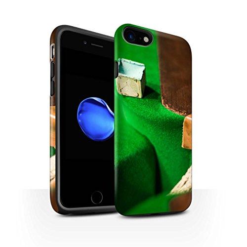 STUFF4 Matte Harten Stoßfest Hülle / Case für Apple iPhone 8 / Rote Kugel/Kreide Muster / Snooker Kollektion Kreide/Tasche