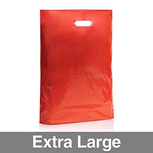Confezione di 500colore rosso sacchetti di plastica con maniglia XL Red