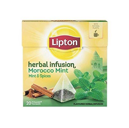 Lipton MOROCCO MINT (Menta e spezie) busta (piramide) tè confezione da 20 x 6 scatole - Lipton Bustine Di Tè