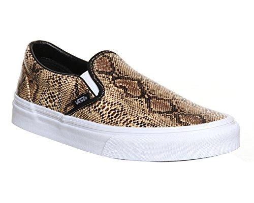 Vans U Classic Slip-on Overwashed, Unisex-Erwachsene Sneakers Snake Gold