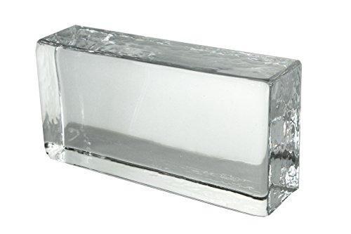 1 Stück Crystal Collection Glasziegel Klar Glänzend 20x10x5 cm (Kristall Chanel)