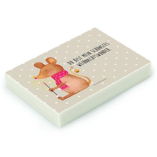Mr. & Mrs. Panda Radiergummi Weihnachtsmaus - 100% handmade in Norddeutschland - Weihnachtsmotiv,...