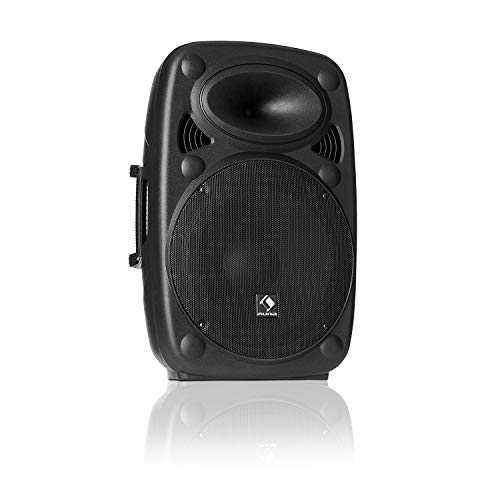 "auna SLK-10-A • Aktiver PA Lautsprecher • mobile PA Anlage • Bodenmonitor • 10"" (25 cm) • 400 W max. • XMR Bass Technology • Bluetooth • USB • SD • MP3 • Line In/Out • Flansch-Anschluss • schwarz"
