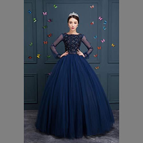 QAQBDBCKL Friesen Langen Mittelalterlichen Kleid Renaissance-Kleid-Prinzessin Kostüm Viktorianischen Gothic/Marie Antoinette/L Belle Ball (Marie Antoinette Sexy Kostüm)