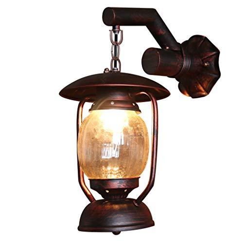 SLH Américain Country Lampe Au Kérosène Lanternes Anciennes Creative Café Allée Balcon Grenier Applique En Fer Forgé Applique
