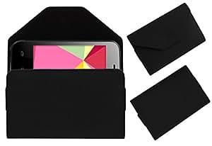 Acm Premium Pouch Case For Videocon Infinium Z30 Lite Flip Flap Cover Holder Black