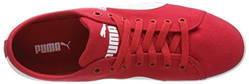 Alto Ad Elsu Adulte Rouge Puma Mixte 09 Chaussons Rischio nero Rot Sneaker bianco Rosso Tela AwwSvCq