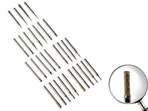 30 tlg Diamant Fräser Schaft 3mm Schleifstift für Minibohrmaschienen