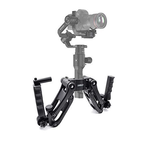 Startrc Dual Handle grip mano manubrio kit, prolunga supporto 4th Axis Gimbal stabilizzatore per DJI Ronin S Osmo Pro, gru Plus Gimbal Feiyu Zhiyun/giroscopio a 3 assi giunto cardanico