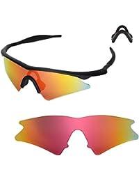 Walleva Earsocks + Nasenpolster für Oakley Radarlock Serie Sonnenbrillen - Mehrfache Optionen (Blaue Earsocks + Schwarze Nasenpolster) WRAAtK