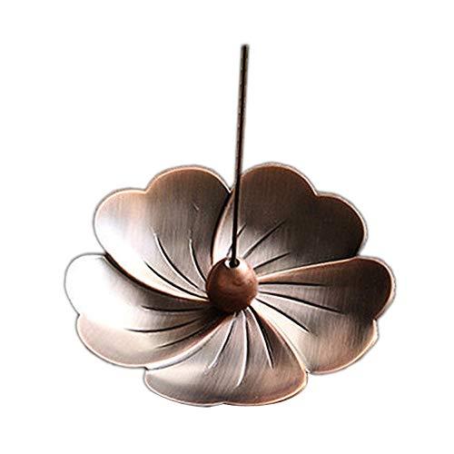 Aromatherapie-Herd, Sakura Kupfer Räuchergefäß Halter Blume Statue Räuchergefäß Platte für Sticks und Kegel