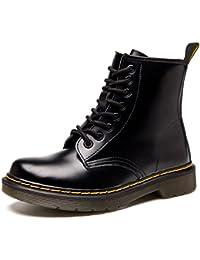 ukStore Botte Femme Hiver Homme Bottes Bottines Plates Fourrées Boots  Chaussures Lacets  518715d09389