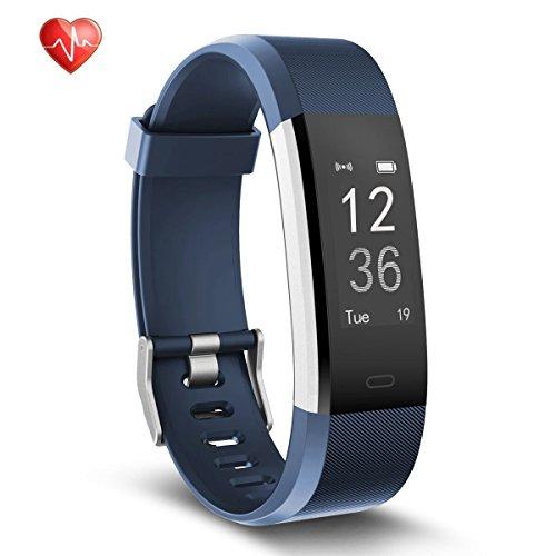 Fitness Tracker mit Herzfrequenzüberwachung, wasserdicht, Schrittzähler-Armband, Schlafüberwachung, für Android und IOS Smartphones Apple iPhone 77Plus 8Samsung S8