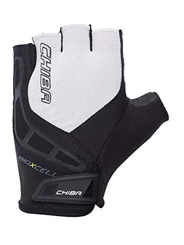 Chiba BioXCell Fahrrad Handschuhe kurz schwarz/weiß 2017: Größe: L (9) (Schwarz Und Weiß Kobe 9)