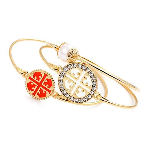 auen-Mädchen-Armband-Perlen-Kristall Disc Armband-Weinlese weiblichen Geburtstagsgeschenk Schmuck-Armband ()