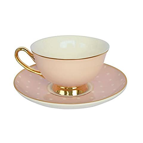 Bombay Duck Pink & White Spotty Cup &