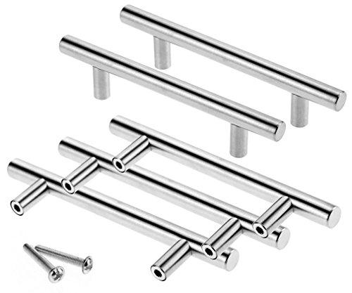 Margueras - 20 maniglie per ante di mobili e credenze, in acciaio Inox, 20pcs, Entraxe de trous: 160 mm
