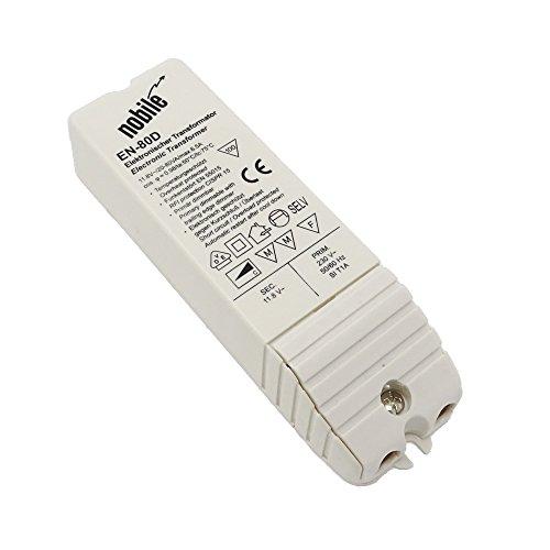 Elektronischer Transformator 20 - 80VA / 12V / 230V Einbau Trafo EN-80 D AC/DC für Halogen und LED