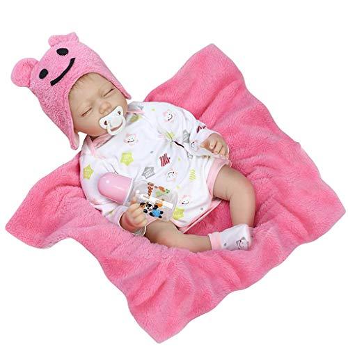 Baby Flasche Kostüm - Liangjunjun 1 Satz Mädchen Puppe 55 cm Rosa Mädchen Kleidung Spielzeug Kostüm Baby Neugeborenen Spielzeug Hut Nippel Flasche Lebensechte Kleinkind Geschenke