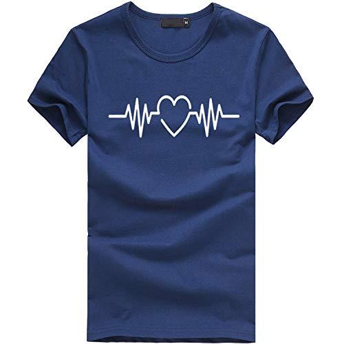 Ss-stretch-shirt (Tees Frauen Mädchen Plus Size Print Tees Shirt Oansatz Kurzarm T-Shirt Bluse Tops)