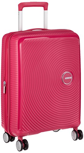 American Tourister - Soundbox Spinner Extensible, 55cm, 35,5/41 L - 2,6 KG, Rose (Lightning Pink)