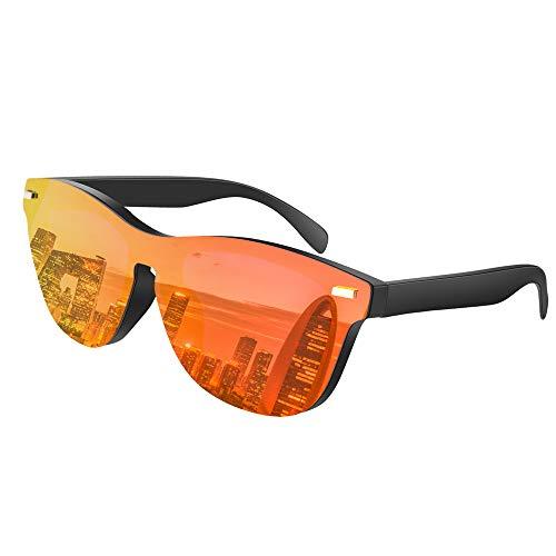 FEIXIANG Polarisierte Sonnenbrille, Retro Sonnenbrille UV400 für Herren und Damen Fahren Reisen