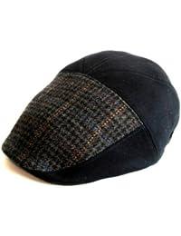 Dasmarca Boinas Edmond gorra plana tweed de lana gorro de invierno Bakerboy