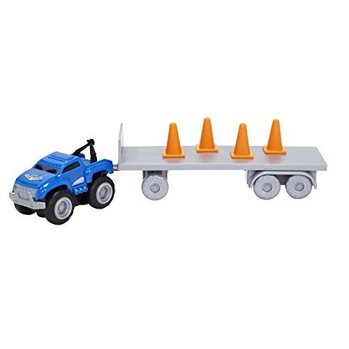 Max Tow Truck Mini Haulers Tow and Go Packs Blue Tow Truck with Tire Accessories by Max Tow Truck (Tow Truck Max)
