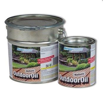 Berger-Seidle Outdoor Oil, Tiefenimprägnierung für Außen, 1 Liter, Nature (Teak) (Malen Grundierung Außen)