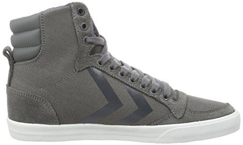 Hummel Slimmer Stadil Smooth Canvas, Sneakers Hautes Mixte Adulte Gris (Castle Rock)