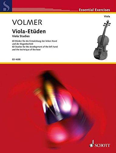 Viola-Etüden: 60 Etüden für die Entwicklung der linken Hand und der Bogentechnik. Viola. (Edition Schott)