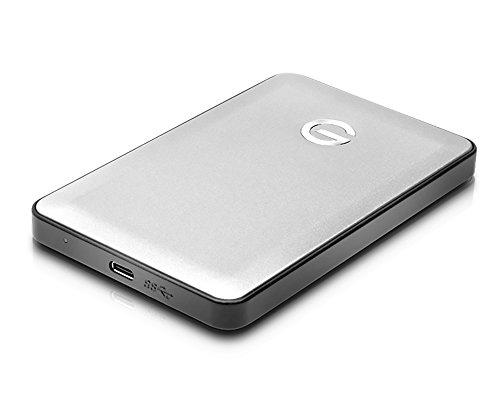 G-Technology G-Drive Hard Disk Portatile USB-C, 1 TB, Argento